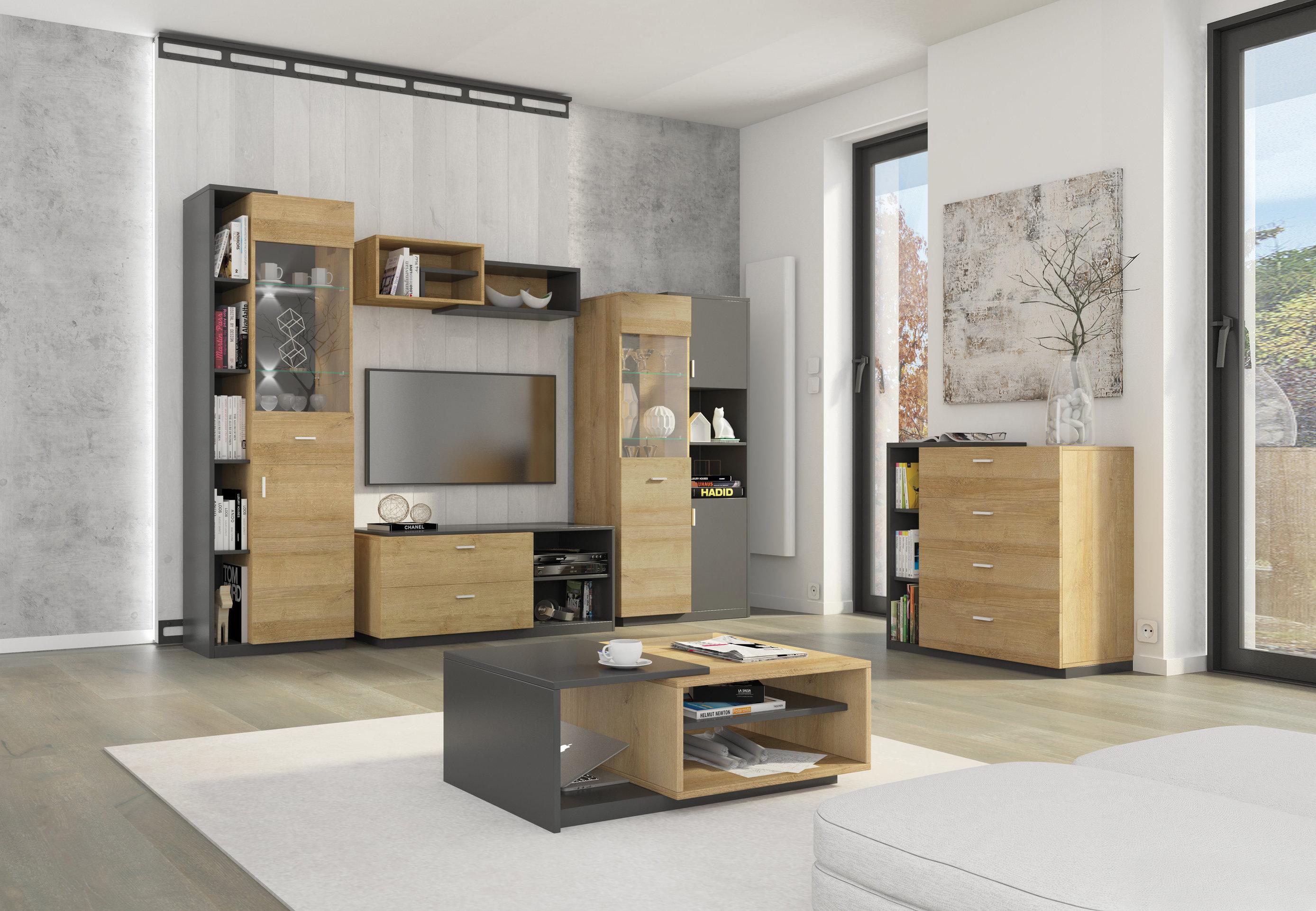 0a71521c1d270 Moderný sivý sektorový nábytok Etna   mojnabytok.sk
