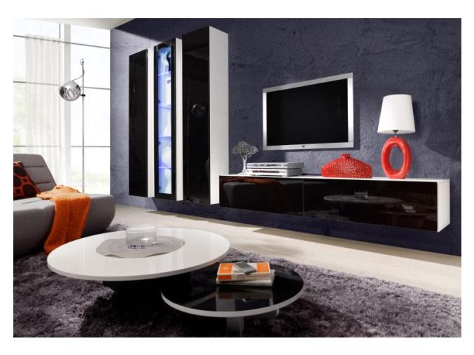 Obývacia stena Vigo IIA biela-čierna