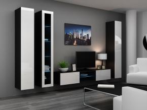 Obývacia stena Vigo 17 čierna-biela