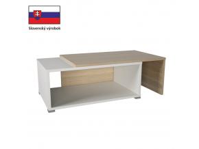 Konferenčný rozkladací stôl DRON dub sonoma/biela