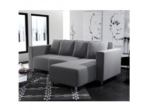 Rohová sedacia súprava DENO / sivá